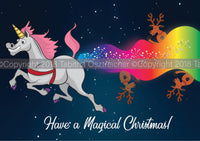 Unicorn Christmas Card PRE ORDER - FREE SHIPPING