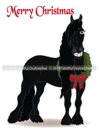 Friesian Christmas card pack -PRE ORDER - FREE SHIPPING