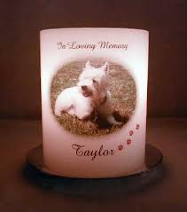 Memorial tea light candle holder