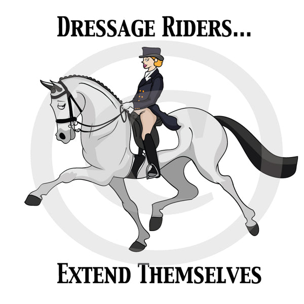 Dressage Riders Extend themselves float/ car decal