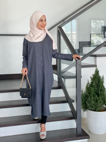 Chisca Blouse (Dark Grey)