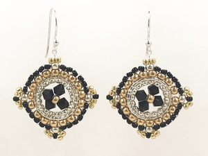 Woven Medallion Earrings