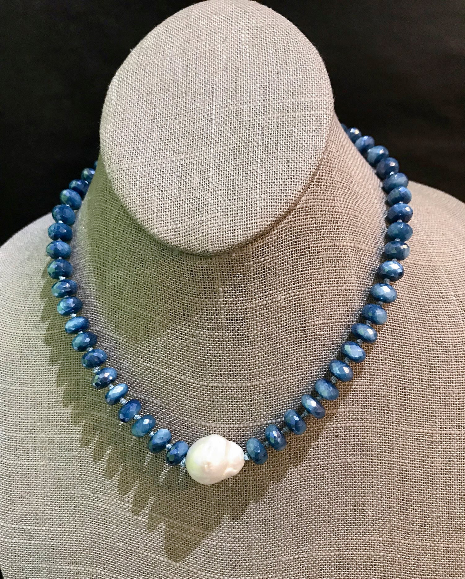 Baroque Pearl and Moonstone Necklace