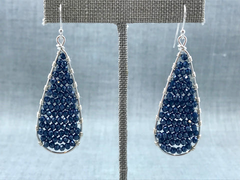 Woven Crystal Teardrop Earrings
