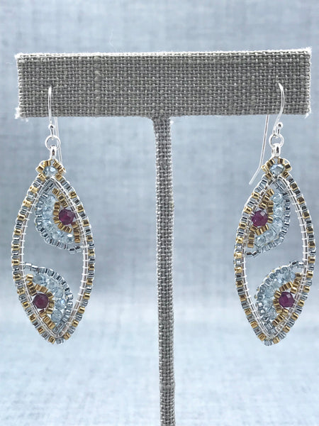 Woven Marquise Earrings