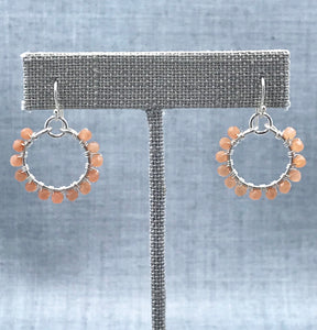 Carnelian Hoop Earrings