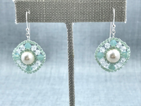 Woven Pearl Earrings
