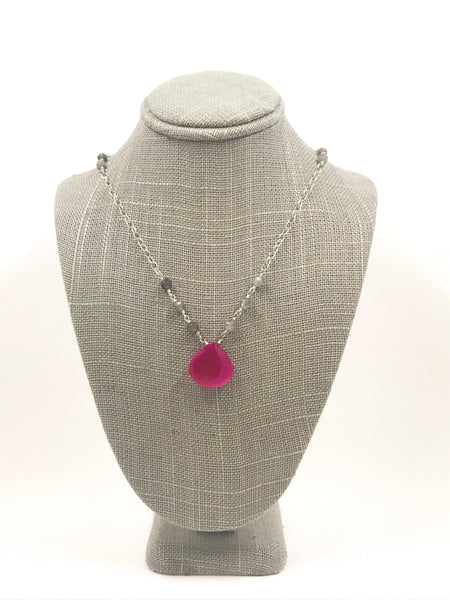 Labradorite and Red Chalcedony Necklace