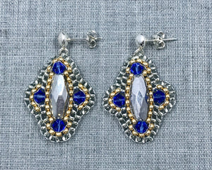 Woven Swarovski Earrings