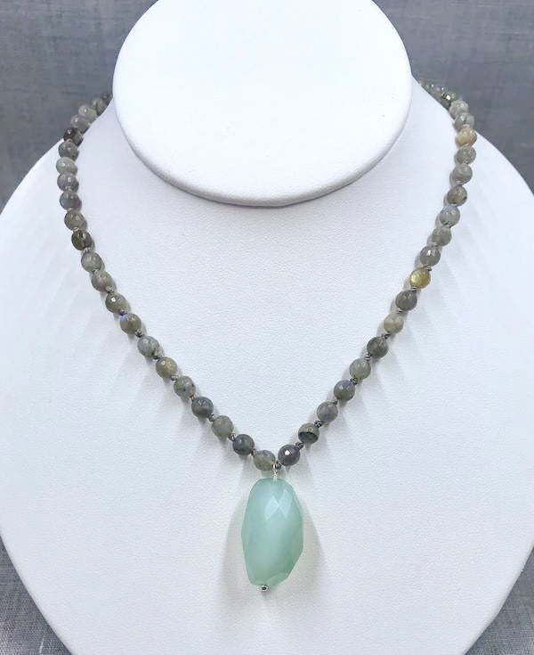 Labradorite and Chalcedony Necklace