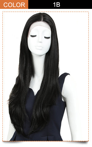 Cida | Synthetic Lace Front Straight Wig (Middle Part) | 31 Inch |1B