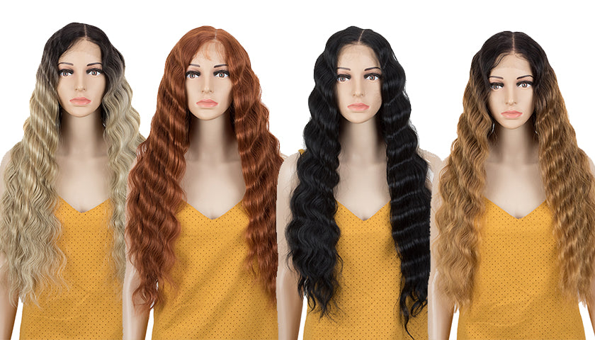 Easy 360 Synthetic HD Lace Frontal Wig | 13*6 Deep Wave Wig | 30 inch Wig Doris by Noble