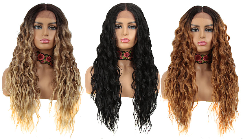 Easy 360 Synthetic HD Lace Frontal Wigs | 28 Inch Long Curly Wig | Sophisticate