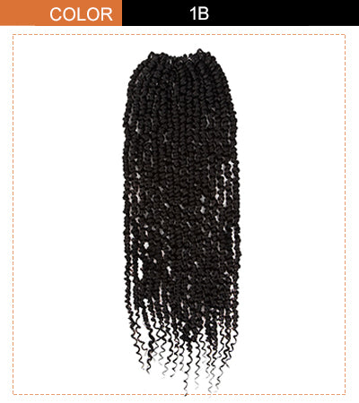 bomb twist crochet hair extension natural black