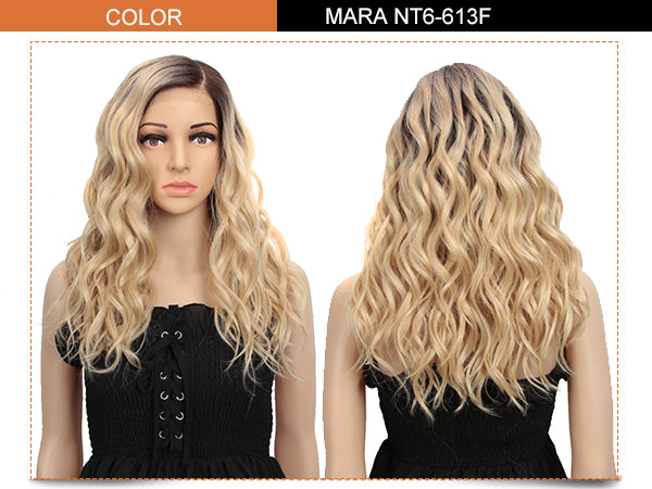 6.5*4.5 Mono Lace Front Wig |19 Inch Natural Wavy Blonde | Mara by Noble