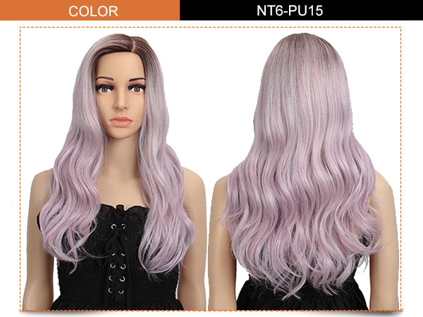 6.5*4.5 Mono Lace Wig | 22 Inch Natural Wavy | Light Lavender | Elin by Noble