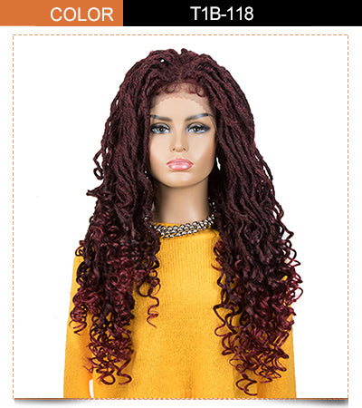 ASHA |Synthetic 4*4 Lace Frontal Passion Twist Wig|24 inch Goddess Wig