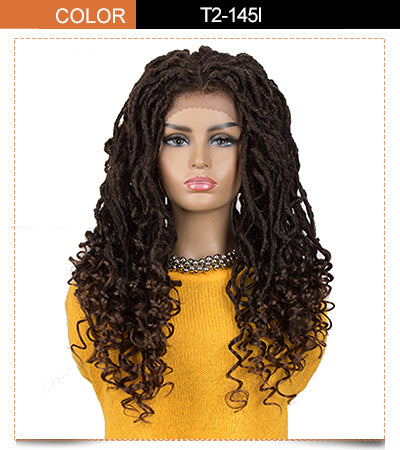 ASHA |Synthetic 4*4 Lace Frontal Passion Twist Wig|24 inch Goddess Wig| Dark Brown