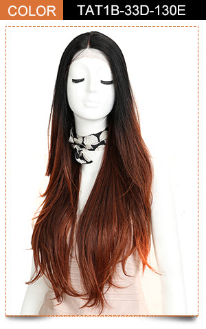 Cida | Synthetic Lace Front Straight Wig (Middle Part) | 31 Inch | TAT1B-33D-130E