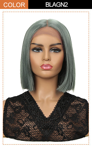 13*7 Synthetic HD Lace Frontal BOB Wig |10 inch Short Lace Wig