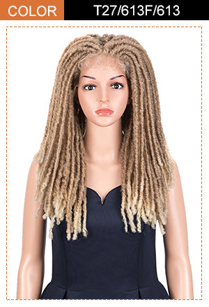 Dread Lock | Synthetic 3*6 Lace Front Dread locs Wigs | 23 Inch Full Lace Synthetic Faux Locs Braids Wig | Noble