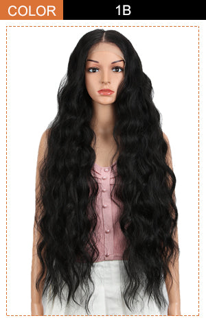 lace frontal long wavy wig