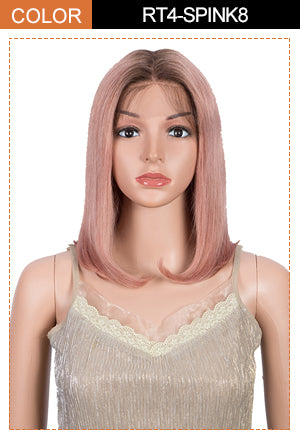 colored human hair lace front wig