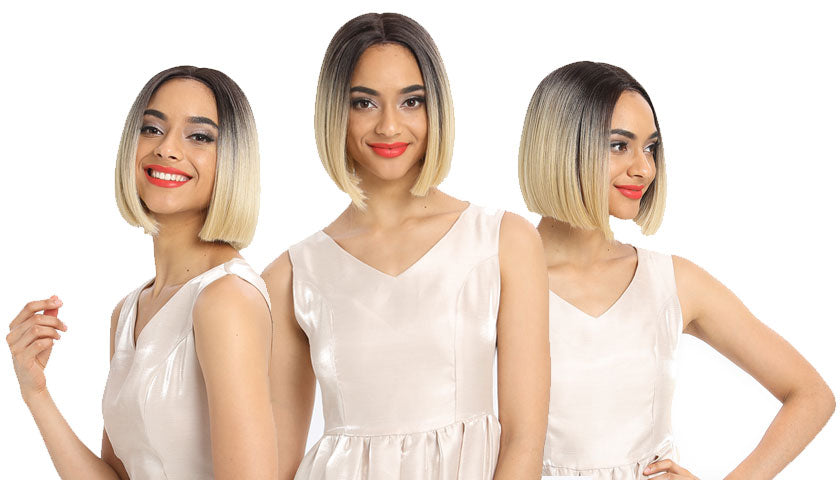 Alia | Synthetic Lace Front Wigs |9.5 Inch Blunt Cut Short Bob Wig