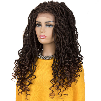 ASHA |Synthetic 4*4 Lace Frontal Passion Twist Wig|24 inch Goddess Wig| Dark Brown - Noblehair