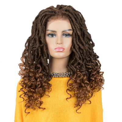 ASHA |Synthetic 4*4 Lace Frontal Passion Twist Wig|24 inch Goddess Wig| Mixed Brown - Noblehair