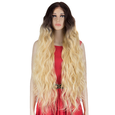 FREYA | Synthetic Lace Front Wigs|38 inch Long Wavy Wig|Ombre Blonde Wig by NOBLE - Noblehair