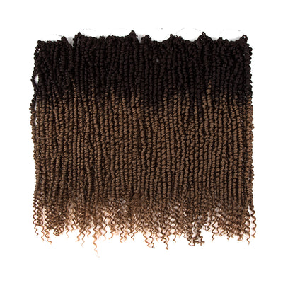 Noble Bomb Twist Crochet Hair | 24 inch 6PCS Pre Looped Crochet Hair Extensions with Curly Ends | Ombre Brown CRO-FOXY TWIST - Noblehair