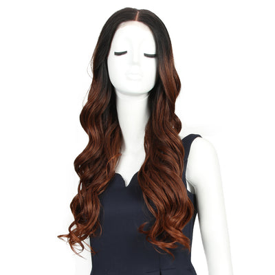 Easy 360 Synthetic Lace Front Wig| 29 Inch Loose Wave | Ombre Red| Arika by Noble - Noblehair