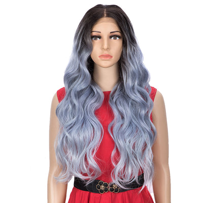 Easy 360 Synthetic Lace Front Wig | 28 Inch Body Wave | Floral Purple |Grace by Noble - Noblehair