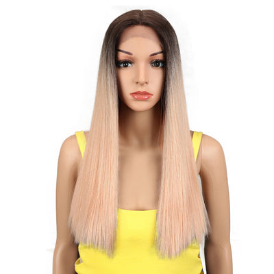 Synthetic Lace Front Wig | 19.5 Inch Blunt Cut Straight | Ombre Pink| Janelle by Noble - Noblehair