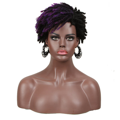 Synthetic Afro Wigs For Black Women | 9.5 Inch Short Dreadlocks | Mixed Purple| RJO by Noble - Noblehair