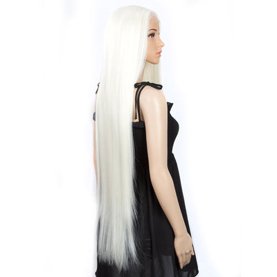 Synthetic Lace Front Wigs | 38 inch Super Long Straight Lace Wig |White Wig - Noblehair