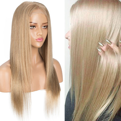 NOBLE 4*4 Lace Frontal Wigs Human Hair HD Lace| Straight Colorful Human Hair Wigs Pre-Plucked With Baby Hair | 10 -20 inch Gold Blonde Wigs - Noblehair