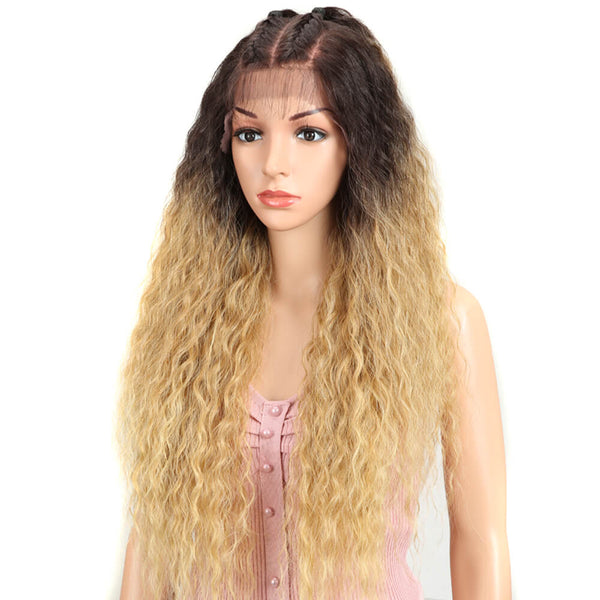 Beyonce | 13*4 Synthetic Lace Frontal Wigs | 30 Inch Curly Wave Wig