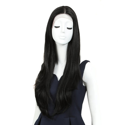 Cida | Synthetic Lace Front Straight Wig (Middle Part) | 31 Inch |1B - Noblehair