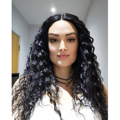 NOBLE S.Kelly Synthetic Lace Wig (Part Lace)25 Inch丨1B - Noblehair