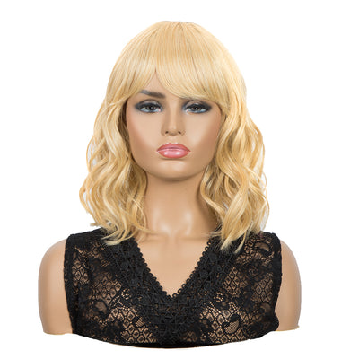 Synthetic Non Lace Wig|Natural Wave 12 inches Short Curly BOB Hair Wigs | Honey Blonde Wig GEMMA - Noblehair