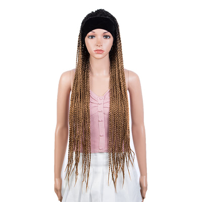 "NOBLE Headband Braided Wig 37"" Long Braid Wig Machine Made Glueless Headband Wig for Black Women - Noblehair"