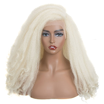 MAKER | Synthetic Lace Front Afro Dreadlock Wig | 21 inch Instant Weave 6 inch Side Lace Part Blonde Wig - Noblehair