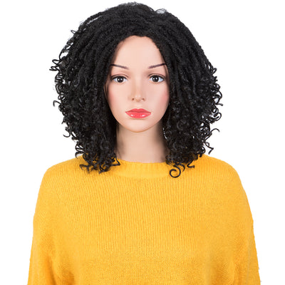Synthetic Short Dreadlock Wigs for Women | Faux Locs Twist Wig with Curly ends | 4 Colors Available GLANAGE by NOBLE - Noblehair