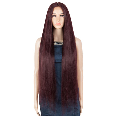 NOBLE Synthetic Lace Front Wigs | 37 inch Super Long Straight Lace Wig Preplucked | Softer Bio Hair Wig 5 Colors - Noblehair