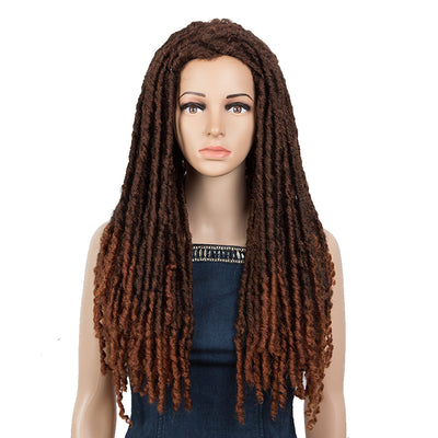 NOBLE Synthetic Afro Dread locs Wigs | 24 Inch Synthetic Faux Locs Braids Wig | CARLYS by Noble Girl - Noblehair