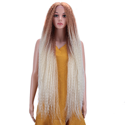 NOBLE Dreadlock Lace Front Wig | 38 inch Super Long Straight Braid Wig | Afro Kinky Curly Ombre Blond Wig for Black Women | Maxin - Noblehair