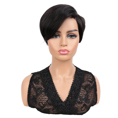 NOBLE Short Bob Human Hair Wigs | 9 Inch Side Lace Part Wig for Women | Scarlett Black Wigs - Noblehair
