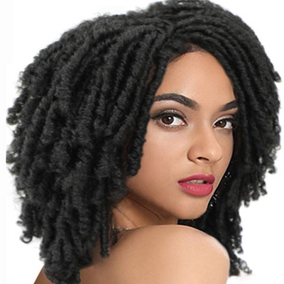 Synthetic Afro Wigs For Black Women | 13 Inch Dreadlocks  Black Wig | Diana by Noble - Noblehair